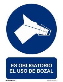 Señal Es obligatorio el uso del bozal