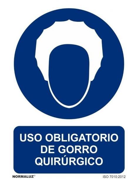 Señal Uso obligatorio de gorro quirúrjico