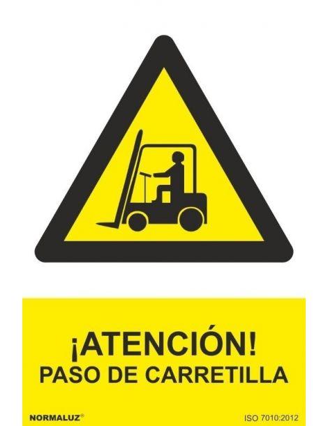 Señal Atención Paso de Carretilla