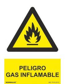 Señal Peligro Gas Inflamable