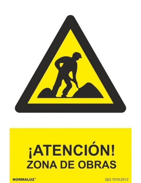 Señal Atención Zona de Obras