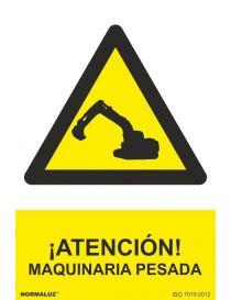 Señal Atención Maquinaria Pesada