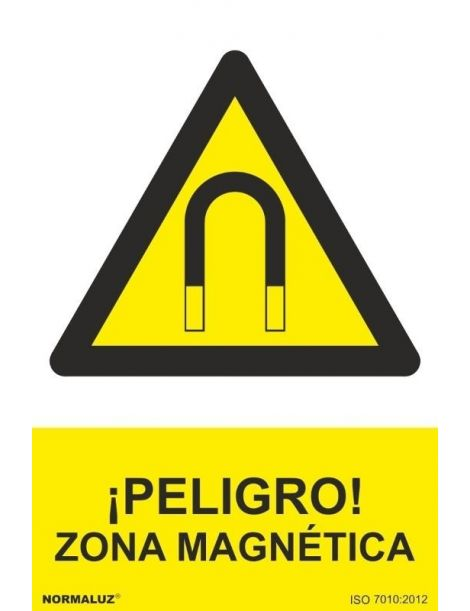 Señal Peligro Zona Magnetica