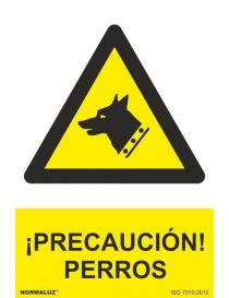Señal Precaución Perros