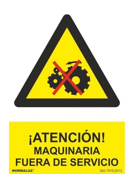 Señal Atención Maquinaria Fuera de Servicio