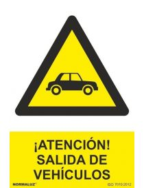 Señal Atención Salida de Vehículos
