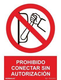 Señal Prohibido Conectar Sin Autorización