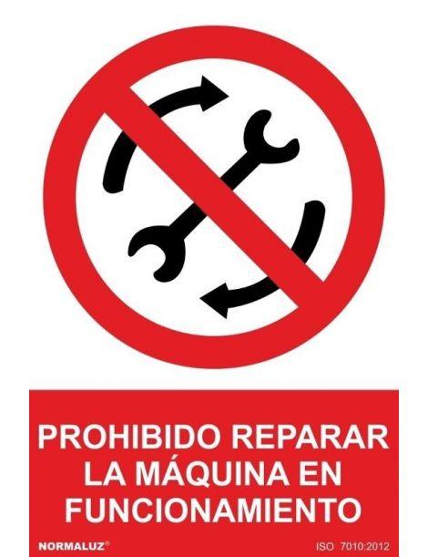 Señal Prohibido Reparar la Máquina en Funcionamiento