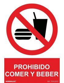 Señal Prohibido Comer y Beber