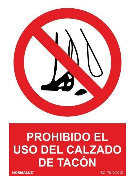 Señal Prohibido el Uso del Calzado de Tacón