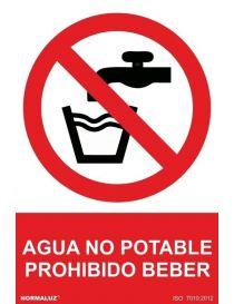 Señal Agua No Potable Prohibido beber