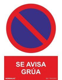 Señal Prohibido Aparcar Se Avisa Grua