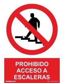 Señal Prohibido Acceso a Escaleras