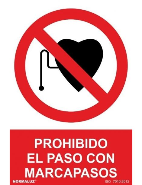 Señal Prohibido el Paso con Marcapasos