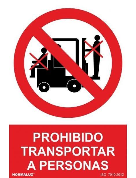Señal Prohibido Transporta a Personas