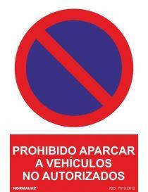 Señal Prohibido Aparcar a Vehículos no Autorizados