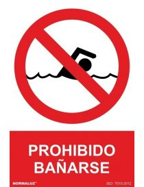 Señal Prohibido Bañarse
