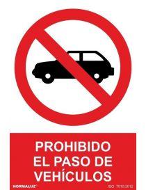 Señal Prohibido el Paso de Vehículos
