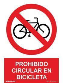 Señal Prohibido Circular en Bicicleta