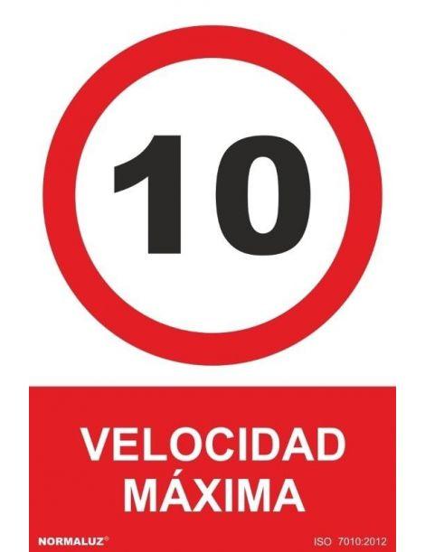 Señal Velocidad Máxima 10 Km.