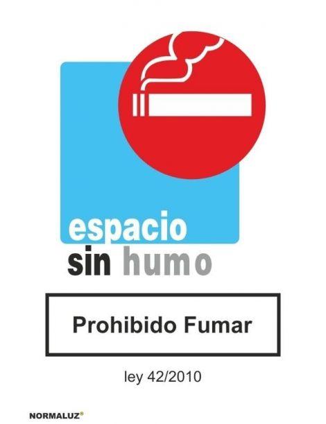 Señal Espacio Sin humo Prohibido Fumar