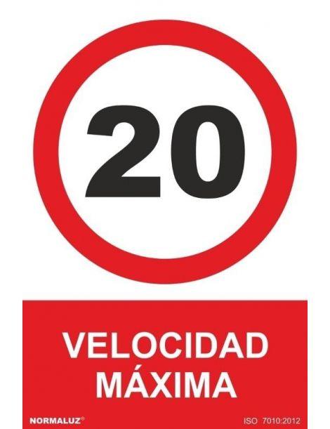 Señal Velocidad Máxima 20 Km.