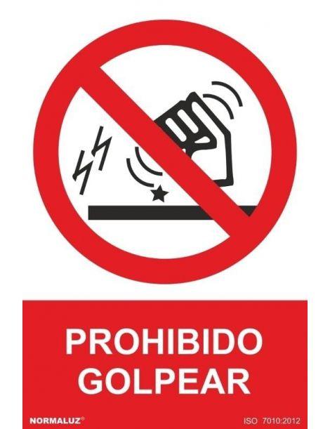 Señal Prohibido Golpear