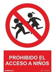 Señal Prohibido El Acceso a Niños