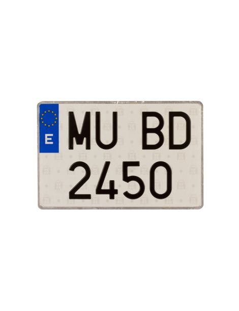 MATRÍCULA EUROPEA MOTOCICLETA CON SIGLAS DE PROVINCIA ALUMINIO 220x160 mm