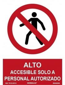 Señal Accesible Solo a Personal Autorizado