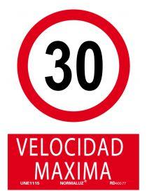 Señal Velocidad Máxima 30 Km.