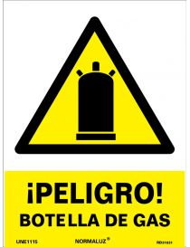 Señal Peligro Botella de Gas
