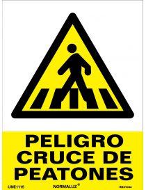 Señal Peligro Cruce de Peatones