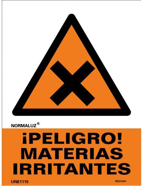 Señal Peligro Materias Irritantes
