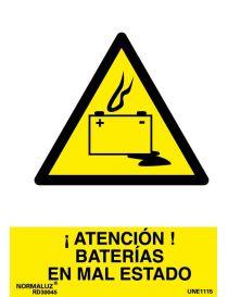 Señal Atención Baterias en Mal Estado