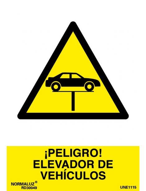 Señal Peligro Elevador de Vehículos