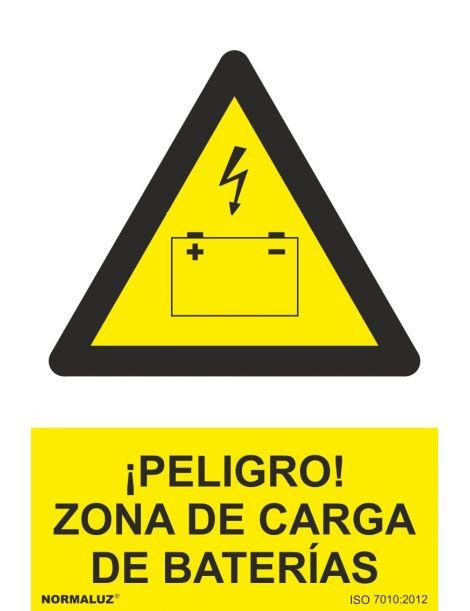 Señal Peligro Zona de Carga de Baterías
