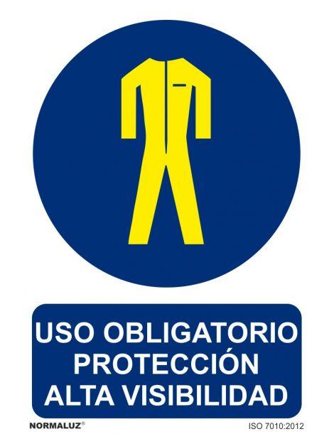 Señal Uso obligatorio protección alta visibilidad