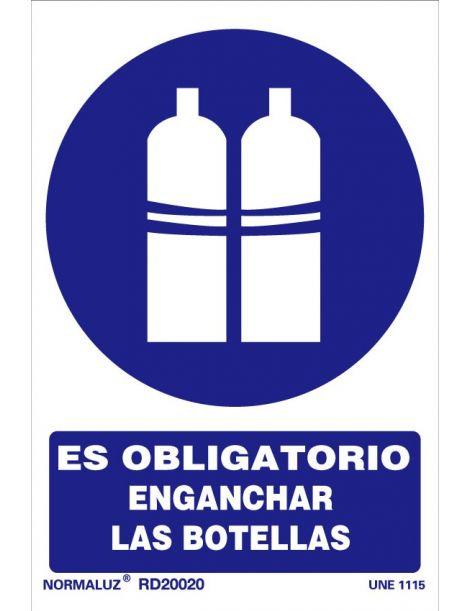 Señal Es obligatorio enganchar las botellas
