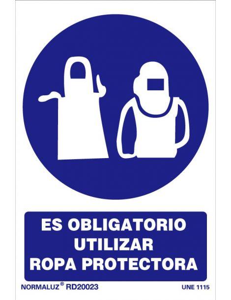 Señal Es obligatorio utilizar ropa protectora