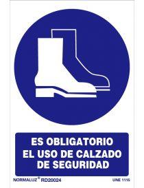 Señal Es obligatorio el uso de calzado de seguridad