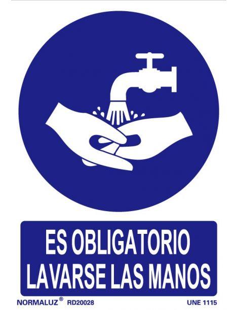 Señal Es obligatorio lavarse las manos