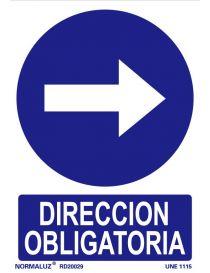 Señal Dirección obligatoria