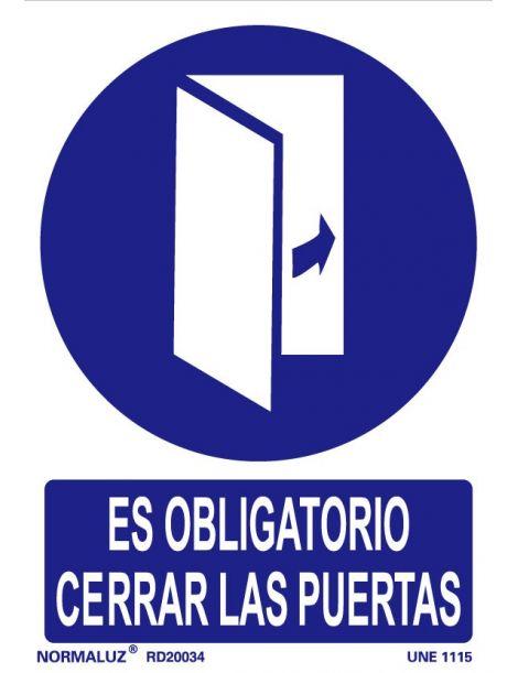 Señal Es obligatorio cerrar las puertas