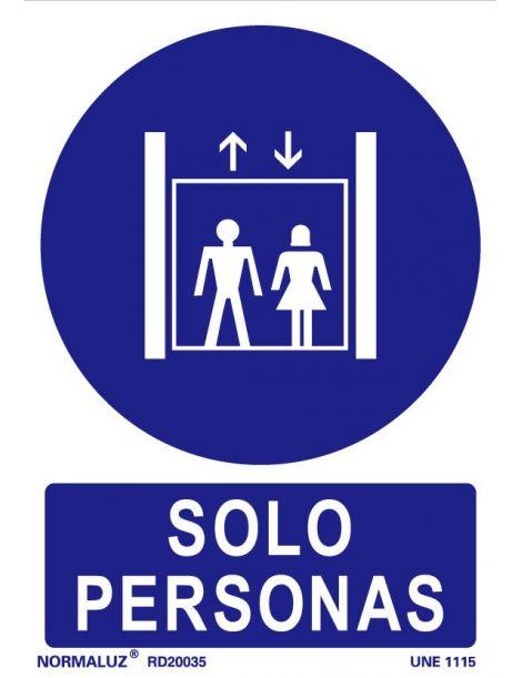 Señal Sólo personas