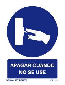 Señal Apagar cuando no se use