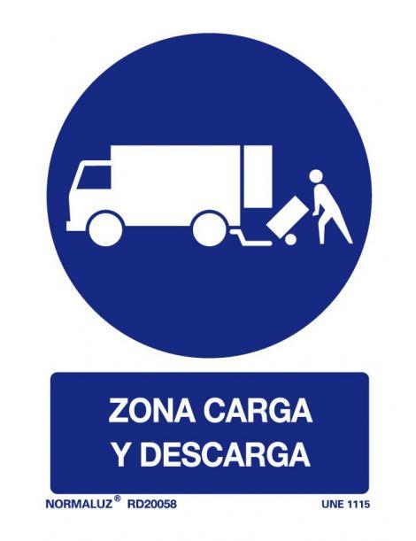 Señal Zona de carga y descarga