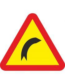 Señal Peligro curva peligrosa a la derecha