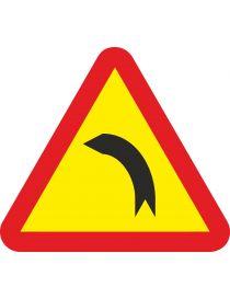 Señal Peligro curva peligrosa a la izquierda