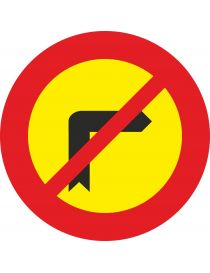 Señal Giro a la Derecha Prohibido